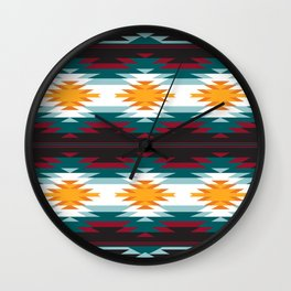 Native American Inspired Design Wall Clock