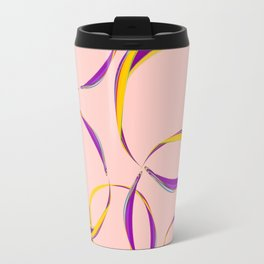 Floating bubbles combined in purple salmon no. 1 Travel Mug
