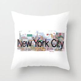 New York City - CityScapes by Stephanie Hessler Throw Pillow
