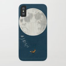 Full moon and foxes Slim Case iPhone X