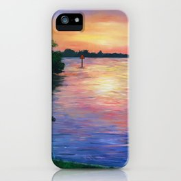 Canal Sunset in Florida Mangroves iPhone Case