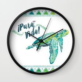 Costa Rica Turtle Wall Clock