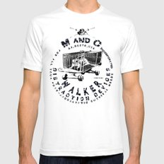 M and C incorporated White SMALL Mens Fitted Tee