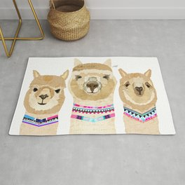 Colorful Alpaca Collage Rug