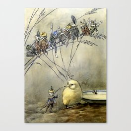 """Bother the Gnat"" by Duncan Carse Canvas Print"