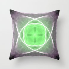 Lilac and Green Throw Pillow