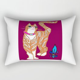 Kitty Alexander with Fleur de Lis Rectangular Pillow