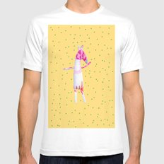 Horse MEDIUM Mens Fitted Tee White