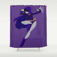 raven Shower Curtains featuring Raven by karla estrada