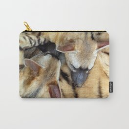 Three Sleeping Aardwolves Carry-All Pouch