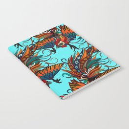 rooster ink turquoise Notebook