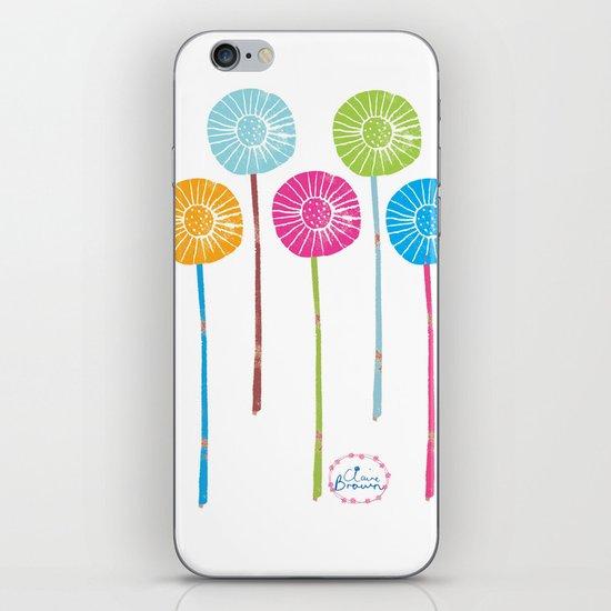 Lino Cut Flowers iPhone & iPod Skin