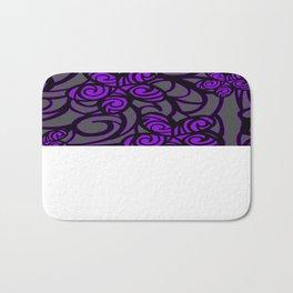 purple flower design Bath Mat