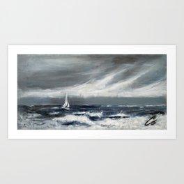 Sailing The Ocean Blues Art Print