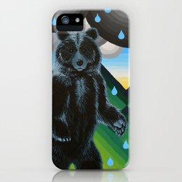 Geometric Black Bear iPhone Case