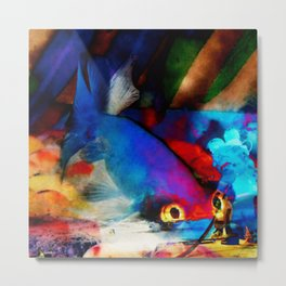 Firefish Metal Print
