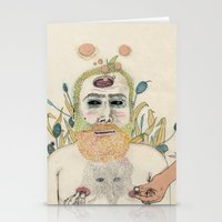 men Stationery Cards featuring three men by Édgar MT