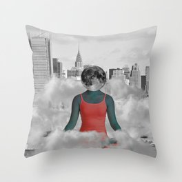Daydreaming in NYC Throw Pillow