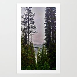 Misty Alpine View Art Print