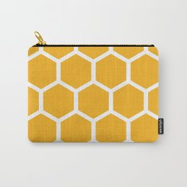 Honeycomb pattern - yellow Carry-All Pouch