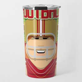 American Football Red and Gold - Hail-Mary Blitzsacker - Jacqui version Travel Mug
