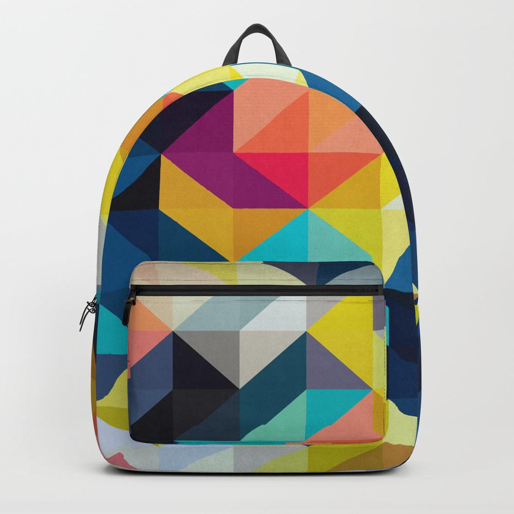 Vibrant Composition Iv Backpack by Printedpattern BKP8464129
