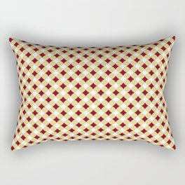 Geometric abstract marsala red yellow modern pattern Rectangular Pillow