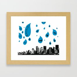 Raining Cats & Dogs Framed Art Print