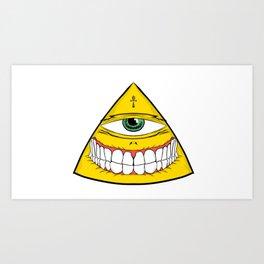 Happy Pyramide Art Print