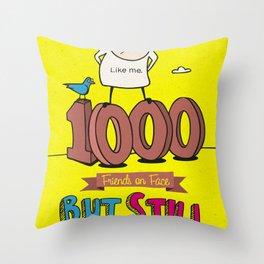 1000 Friends Throw Pillow