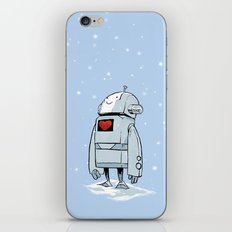 Robot Love Snow iPhone & iPod Skin