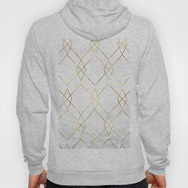 Gold Geometric Marble Pattern Hoody
