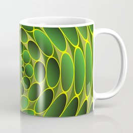 Filled green ellipses Coffee Mug