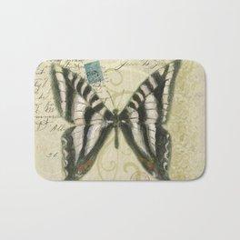 Zebra Butterfly Bath Mat