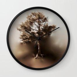 Misty Tree of Life on the Coastal Edge Wall Clock