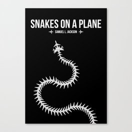 Snakes On A Plane Canvas Print