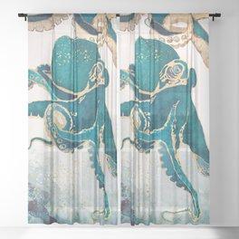 Underwater Dream V Sheer Curtain