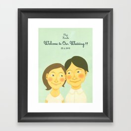 S&K Happy Wedding !! Framed Art Print