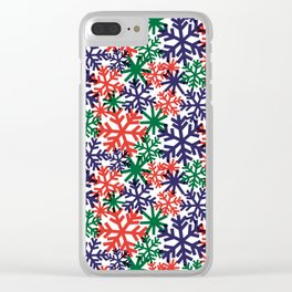 CHRISTMAS SNOWFLAKE Clear iPhone Case