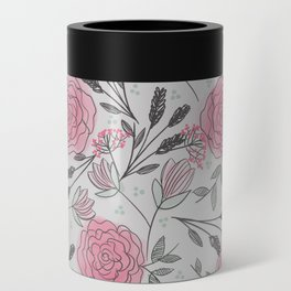 Soft and Sketchy Peonies Can Cooler