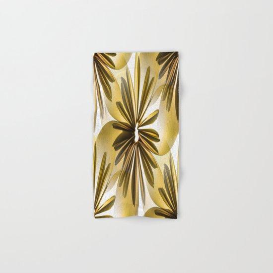 Retro Shiny Flowers Hand & Bath Towel