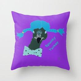 Spunky Turkey Invert Throw Pillow