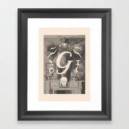 Mors Janua Vitae Framed Art Print