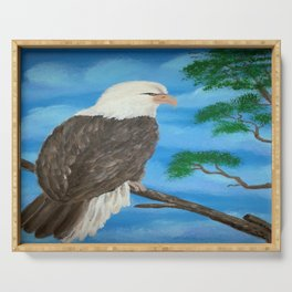 Painting stretcher acrylic eagle Serving Tray
