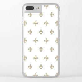 Pom Pom - White Clear iPhone Case
