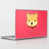 shiba Laptop & iPad Skins featuring SHIBA INU LOVE by giaj