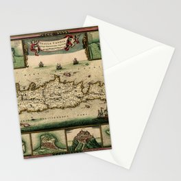 Map Of Crete 1670 Stationery Cards