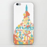 atlanta iPhone & iPod Skins featuring Atlanta, GA by ahutchabove