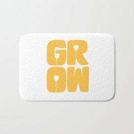 Grow Typography Bath Mat