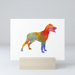Save Valley Scenthound in watercolor Mini Art Print